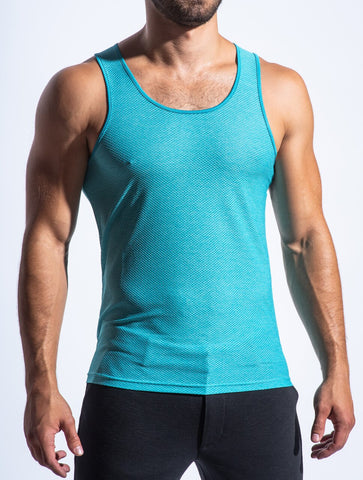 AIR MESH PERFORMANCE TANK - AQUA