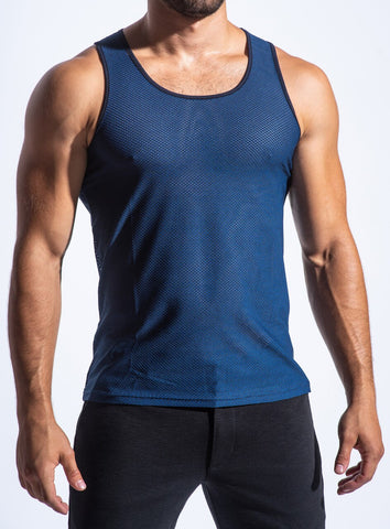 AIR MESH PERFORMANCE TANK - NAVY