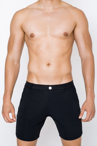 S61 BONDI SHORTS (LONG) - BLK