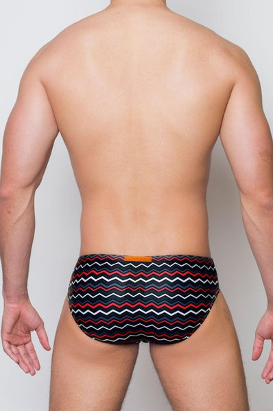 V10 VOLCANO SWIM BRIEF - BLK