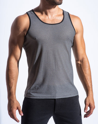 AIR MESH PERFORMANCE TANK - GREY