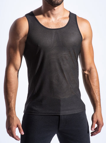 AIR MESH PERFORMANCE TANK - BLK