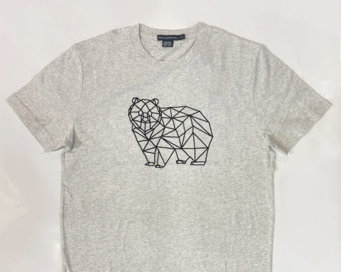 GRIZZLY BEAR GRID TEE - GREY