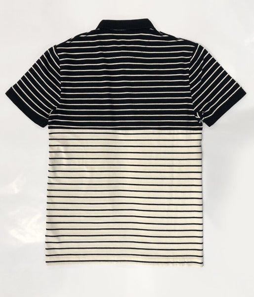 Tim Stripe Polo - BLUE-CREAM