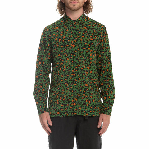 CHEETY L-S BUTTON UP - GRN