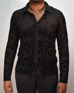 MIDNIGHT GARDEN SHIRT - BLK