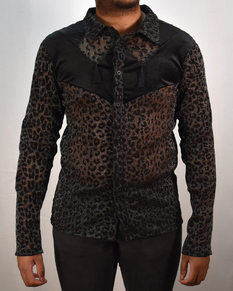 WESTERN KITTY SHIRT - BLK