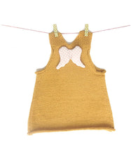 Load image into Gallery viewer, Angel Wings Dress - Golden Apricot with Dusty Pink and Off White Star Angel Wings