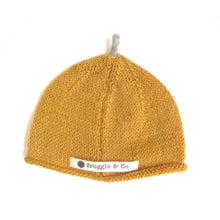 Load image into Gallery viewer, Beanie Hat - Golden Apricot with Mama Rabbit Grey Star and Sprout