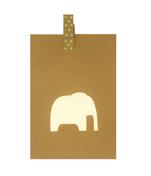 High Visibility Iron On Reflective Patches (4 pack) - Nellie the Elephant