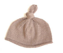 Load image into Gallery viewer, Knotted Top Beanie Hat - Dusty Pink