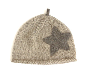 Beanie Hat - Fawn with Baby Donkey Star and Sprout