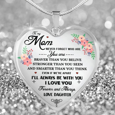 For Mom Heart Pendant Necklace