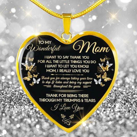 For Mom Heart Shape Pendant Necklace