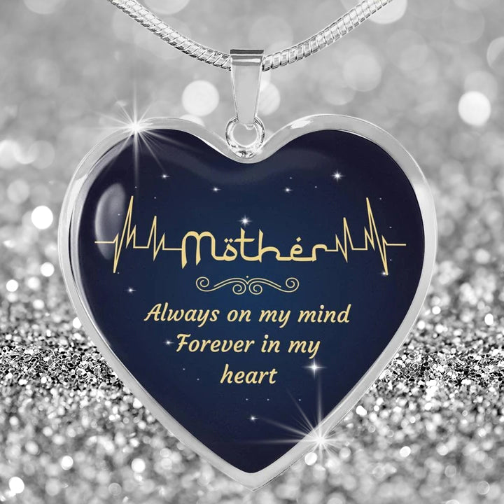Mother Heartbeat Pendant Necklace
