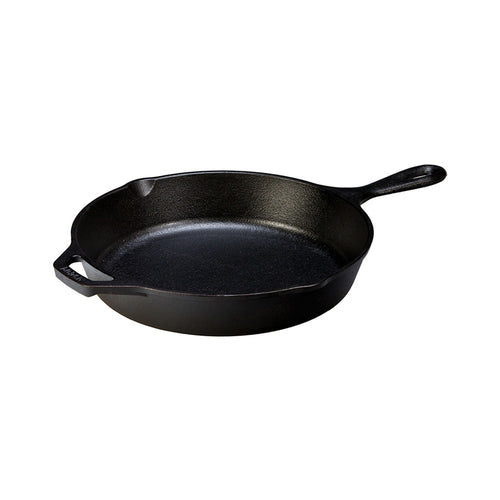 "Lodge Round Cast Iron Skillet with Handle 10.25"" - CLNRY Cookware"