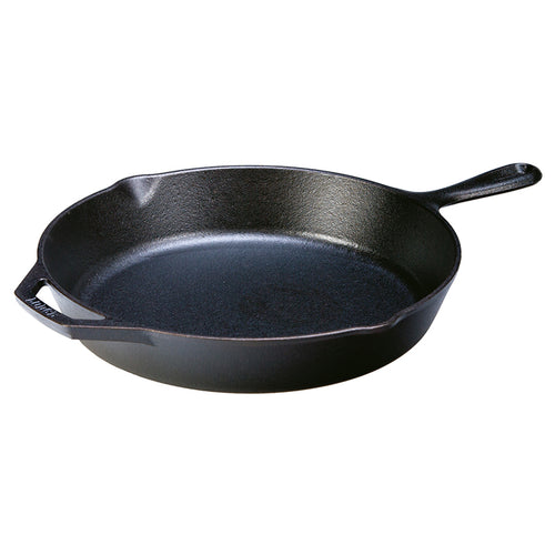 "Lodge Round Cast Iron Skillet with Handle 12"" - CLNRY Cookware"