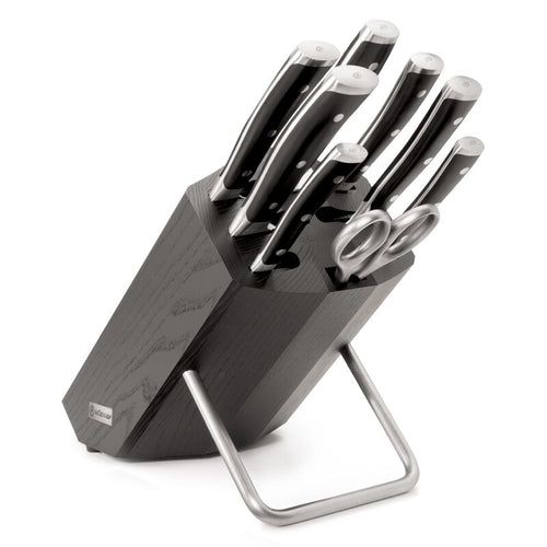 Wusthof Classic IKON 8 Piece Knife Block Set - Ash Wood - CLNRY Cookware