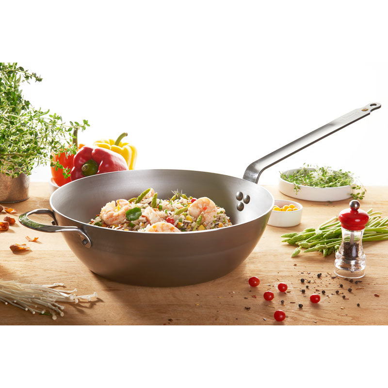Mineral B Element Carbon Steel Country Frying Pan 32cm