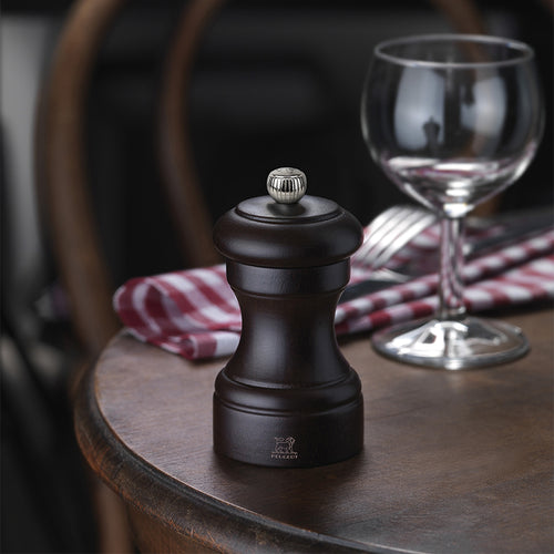 Peugeot Bistro Duo Salt & Pepper Mill Set 10cm - Chocolate & Natural - CLNRY Cookware