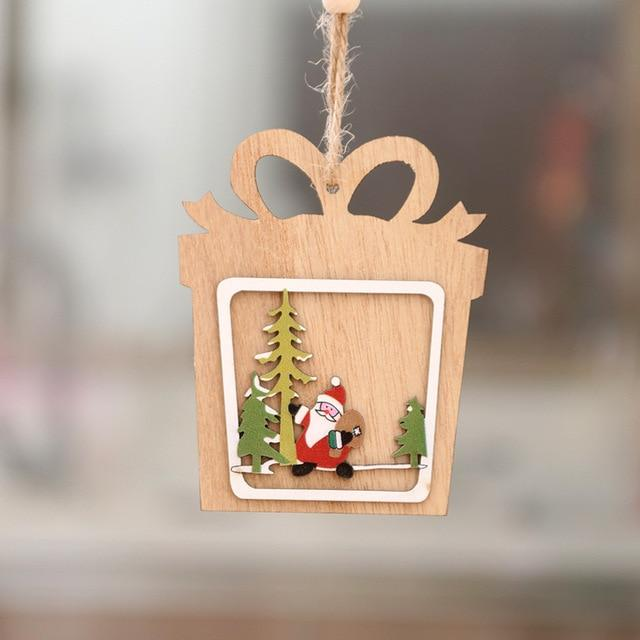 Christmas Ornament  Wooden Hanging