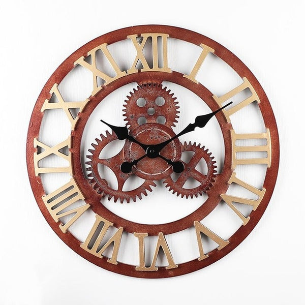 Retro Wall Clock Steam Industry Style