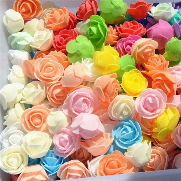 Multicolor Mini PE Foam Rose 50pcs/ Bag