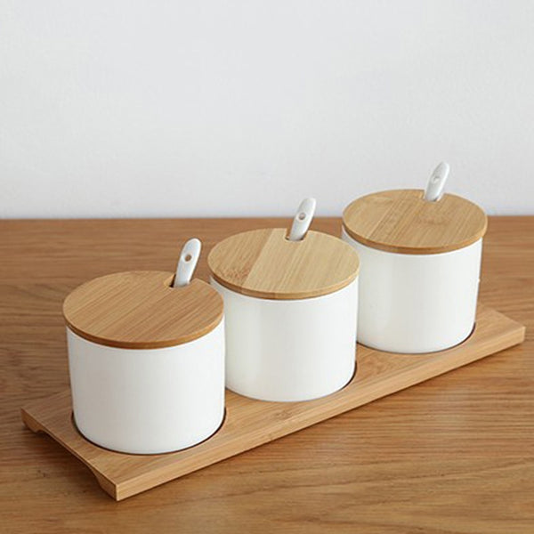 Simple life Creative Ceramics Kitchen Food Containers