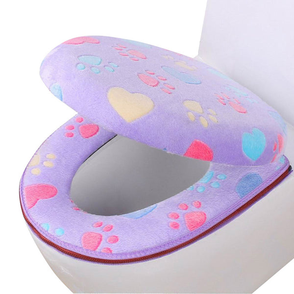 Bathroom Toilet Seat Cover Set