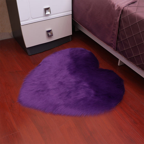 Heart-Shaped Long Hair Fluffy Rug And Tapetes Carpet