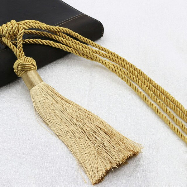 Polyester Tassel Curtain Tieback Home Decoration