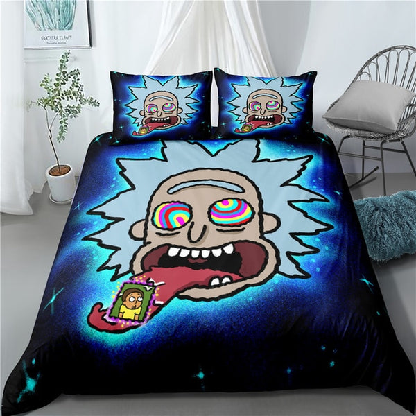 Quilt Rick and Morty Bedding Set