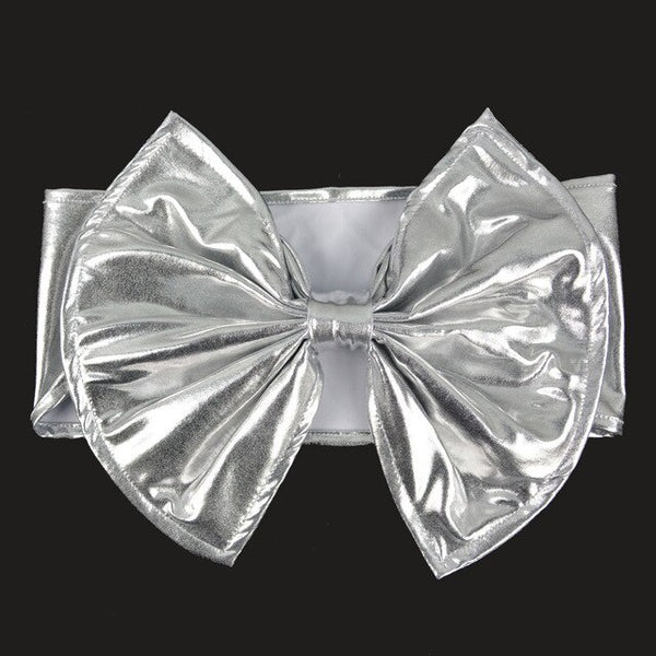 Luxury Gold/Silver Metallic Spandex Bow