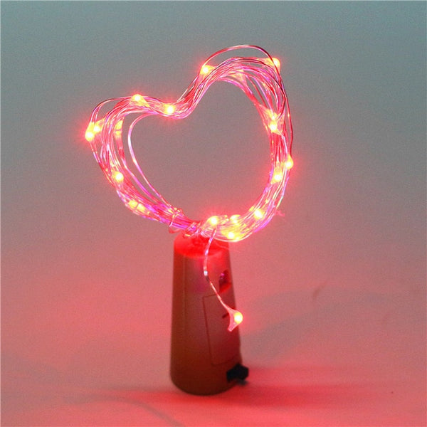 Wine Bottle Cork Lights String 20 LED