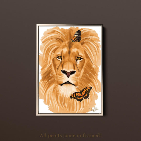 'LION' Print (unframed)