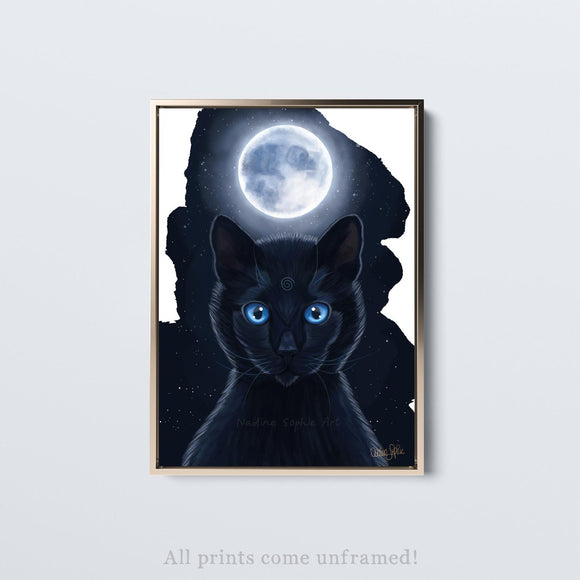 'MOON CAT' Print (unframed)