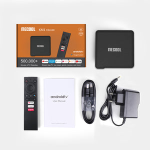 MECOOL KM1 Collective ATV Google Certified Android Smart TV Box 4GB RAM 64GB ROM
