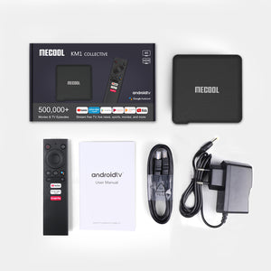 MECOOL KM1 Deluxe ATV Google Certified Android TV Box 4K Video Streaming Media Player 4GB RAM 32GB ROM