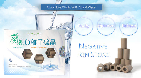 Lanlay Negative Ion (Anion) Stones significantly eliminates heavy metals, agricultural chemicals or pesticides from water, cures growing bacteria and purifies hard water. Water...