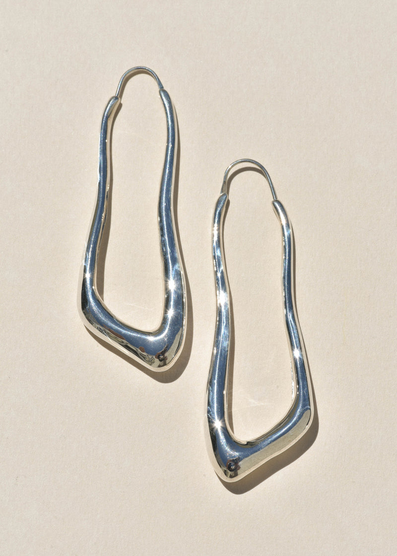 Sterling Silver Lanky Hoops