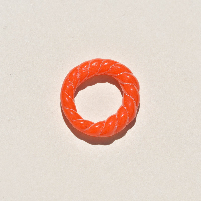 Cayenne Glass Rope Ring