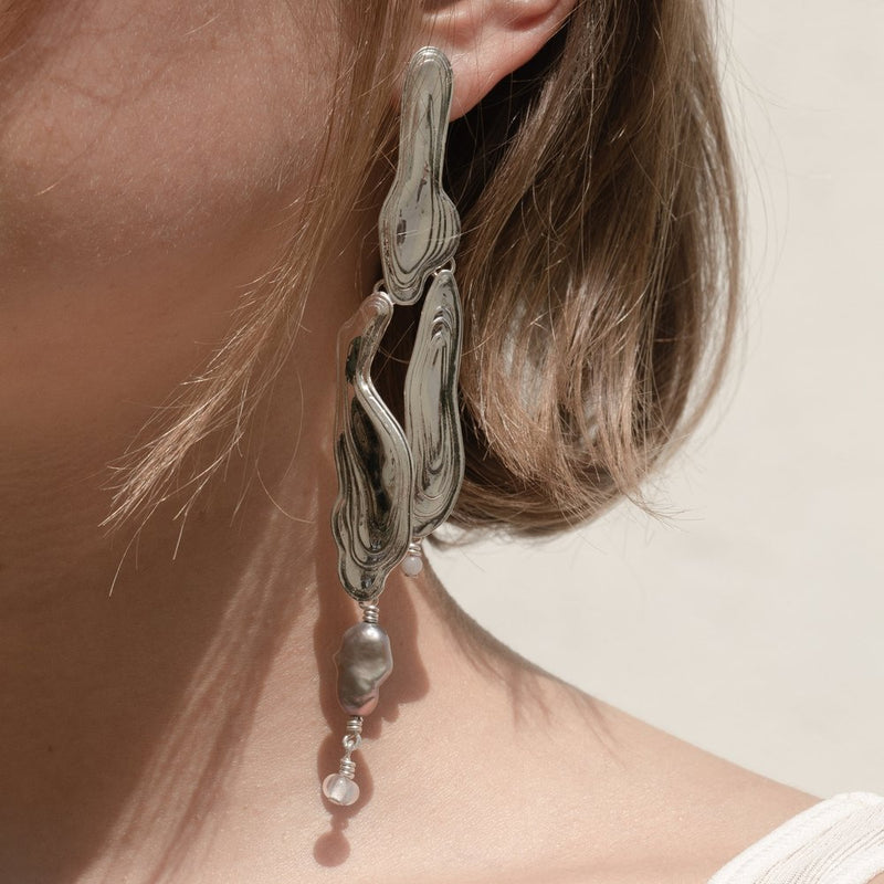 Sterling Silver Current Earrings