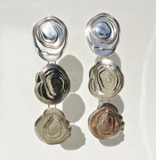 Sterling Silver On the Halfshell Earrings