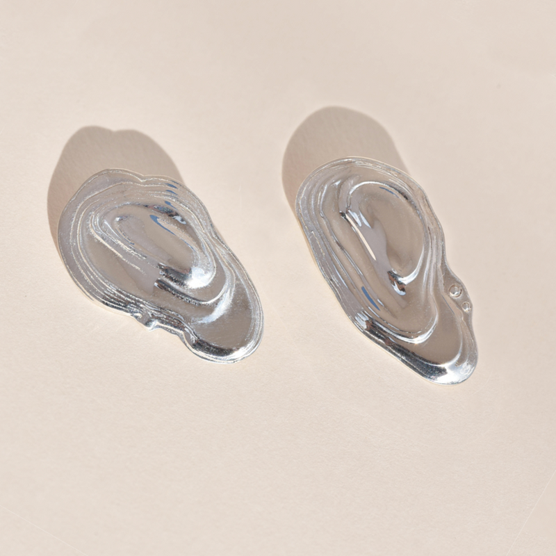Sterling Silver Ostra Earrings