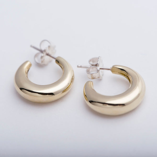 Brass Mini Bubble Hoops
