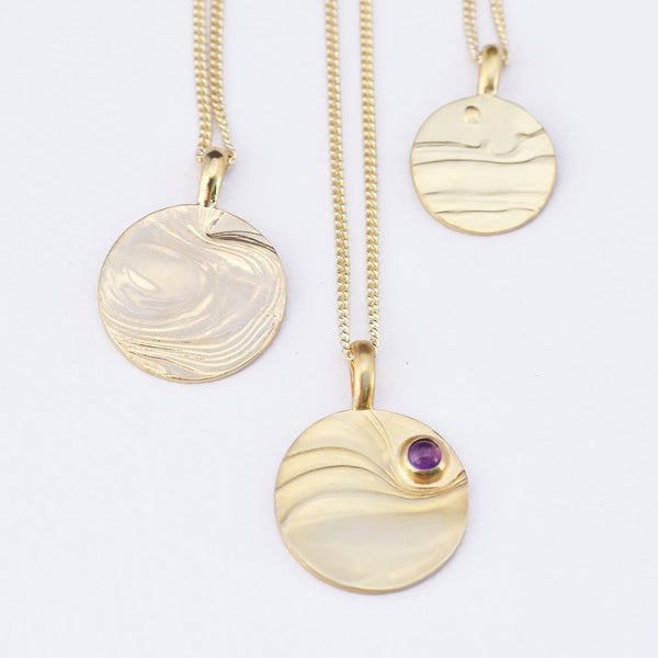 Gold-Plated Dusk Pendant