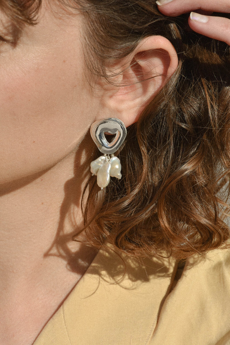 Sterling Silver Castanet Earrings