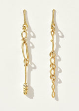 Brass Doodle Chain Earrings
