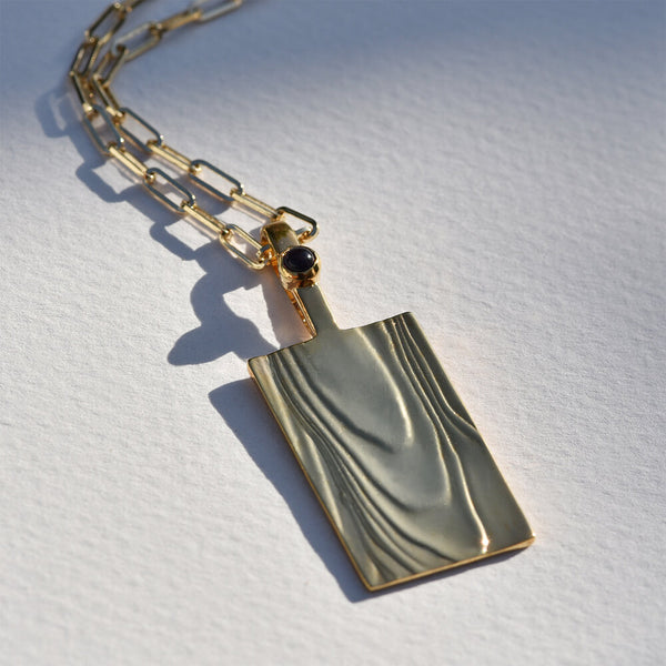 Gold-Plated Erte Pendant