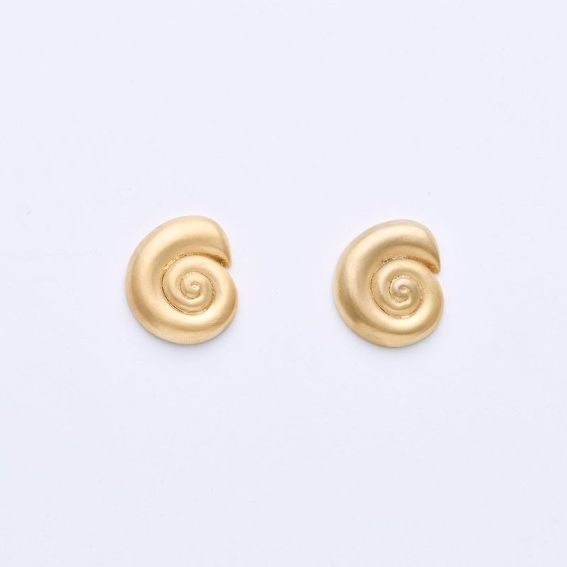 Gold-Plated Nautilus Studs